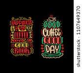 coffee typography set. hand... | Shutterstock .eps vector #1107649370