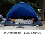 refugees and migrants in a... | Shutterstock . vector #1107650408