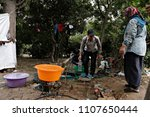 refugees and migrants in a... | Shutterstock . vector #1107650444