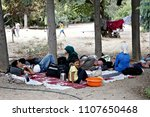 refugees and migrants in a... | Shutterstock . vector #1107650468