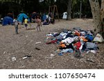 refugees and migrants in a... | Shutterstock . vector #1107650474