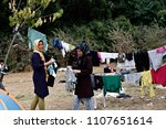 refugees and migrants in a... | Shutterstock . vector #1107651614