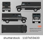 armored truck vector mockup. on ... | Shutterstock .eps vector #1107653633