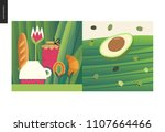 simple things   meal   flat... | Shutterstock .eps vector #1107664466