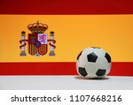 small football on the white... | Shutterstock . vector #1107668216