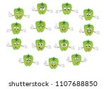 cute pepper character. cartoon... | Shutterstock .eps vector #1107688850