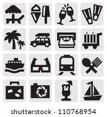 vector black rest icons set on... | Shutterstock .eps vector #110768954