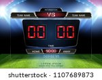 digital timing scoreboard ... | Shutterstock .eps vector #1107689873