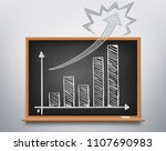 financial chart on the... | Shutterstock .eps vector #1107690983