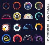 speedometer vector car speed... | Shutterstock .eps vector #1107693383