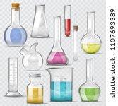 test tube vector chemical glass ... | Shutterstock .eps vector #1107693389