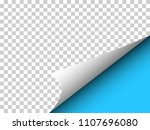 paper with curly corner and... | Shutterstock .eps vector #1107696080