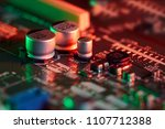 electronic circuit board close... | Shutterstock . vector #1107712388