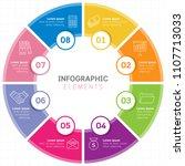 vector infographic circle... | Shutterstock .eps vector #1107713033