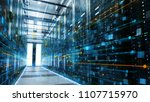 shot of a working data center... | Shutterstock . vector #1107715970