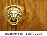 Lion Head Door Knocker  Ancien...