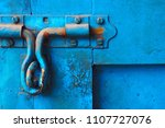 closeup of rusty door latch and ... | Shutterstock . vector #1107727076