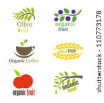 set of organic and natural food ... | Shutterstock .eps vector #110773178