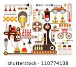 pharmaceutical laboratory  ... | Shutterstock .eps vector #110774138
