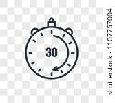 30 minutes vector icon isolated ... | Shutterstock .eps vector #1107757004
