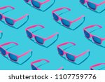 Pink sunglasses pattern on...