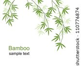 green bamboo branches on a... | Shutterstock .eps vector #110776874
