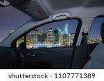 looking through a car window... | Shutterstock . vector #1107771389
