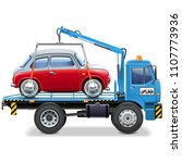 vector tow truck with... | Shutterstock .eps vector #1107773936