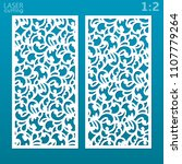 laser cut ornamental panel set... | Shutterstock .eps vector #1107779264
