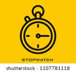 stopwatch icon signs | Shutterstock .eps vector #1107781118