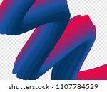 3d paint brush with vibrant...   Shutterstock .eps vector #1107784529
