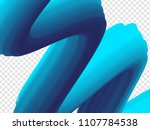 3d paint brush with vibrant... | Shutterstock .eps vector #1107784538
