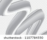 3d paint brush with black and... | Shutterstock .eps vector #1107784550