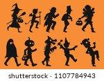 set of children vector in... | Shutterstock .eps vector #1107784943