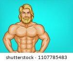vector pop art naked chest male ... | Shutterstock .eps vector #1107785483