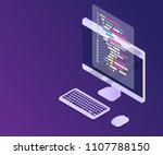 illustration of software... | Shutterstock .eps vector #1107788150