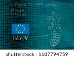 new general data protection... | Shutterstock . vector #1107794759