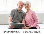 affectionate attractive elderly ...   Shutterstock . vector #1107804026