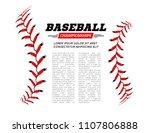 baseball ball text frame on... | Shutterstock .eps vector #1107806888