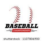 baseball ball on white... | Shutterstock . vector #1107806900