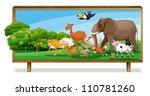 Illustration Of Animals In...