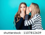 portrait of two young... | Shutterstock . vector #1107812639