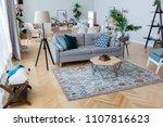 cozy interior design of the... | Shutterstock . vector #1107816623