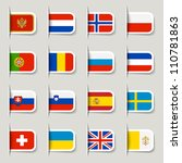label   european flags | Shutterstock .eps vector #110781863