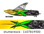 boat livery graphic vector.... | Shutterstock .eps vector #1107819500