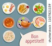 bon appetite. fast food menu... | Shutterstock .eps vector #1107821159