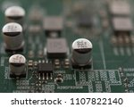 electronical circuit view | Shutterstock . vector #1107822140