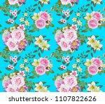 floral seamless pattern. flower ... | Shutterstock . vector #1107822626