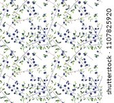 seamless repeat floral pattern...   Shutterstock . vector #1107825920