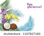templat for nariyal purnima ... | Shutterstock .eps vector #1107827183